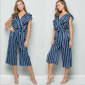 NEW HOT Striped Jumpsuit